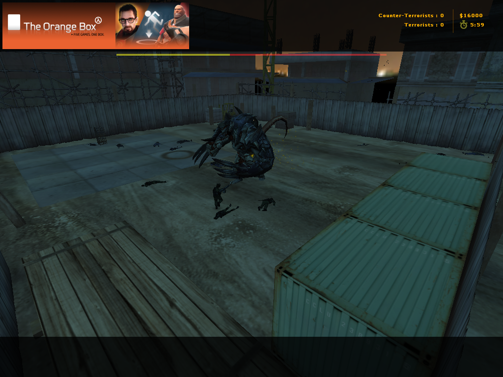 zs_deadend_arena_gamma карта для Zombie Scenario, Counter Strike 1.6