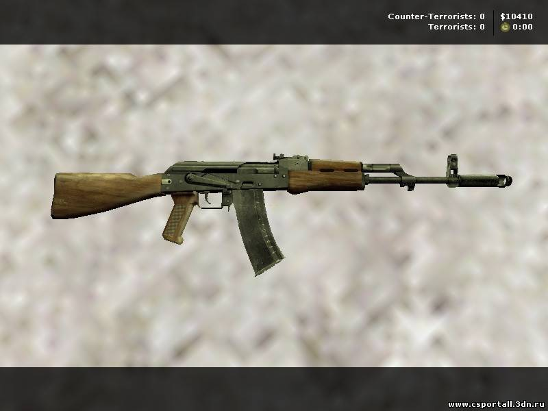 HQ  модель AK-47 для Counter Strike 1.6