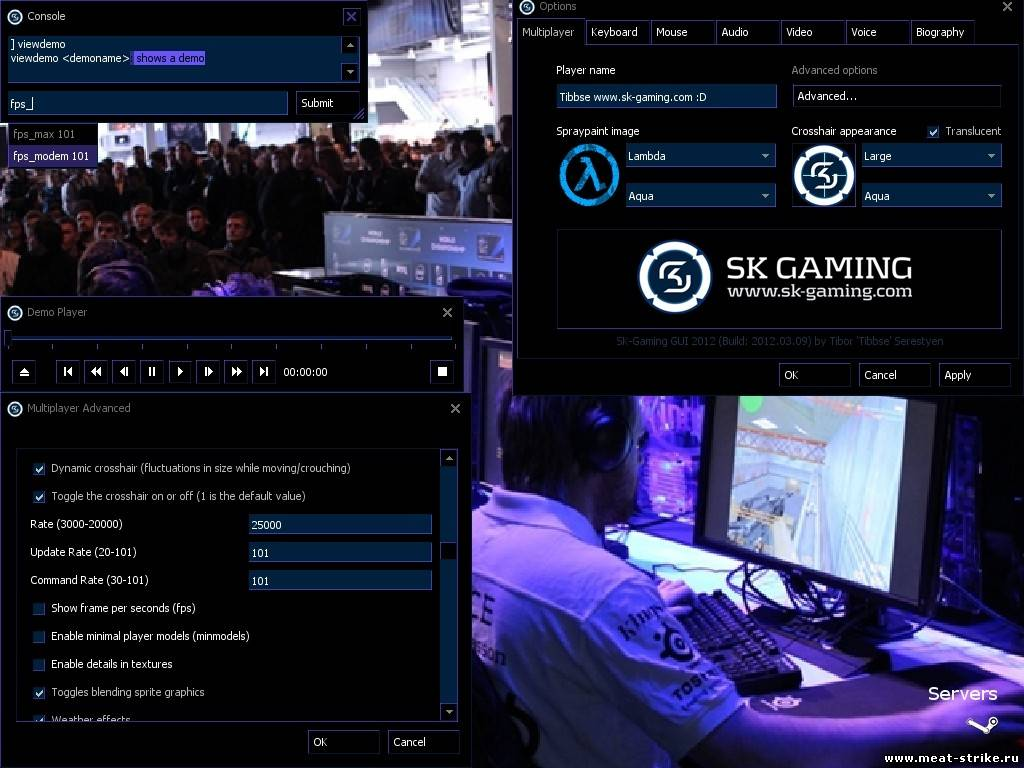 SK-Gaming GUI для Counter Strike 1.6